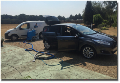 Picture showing car seat cleaning colchester